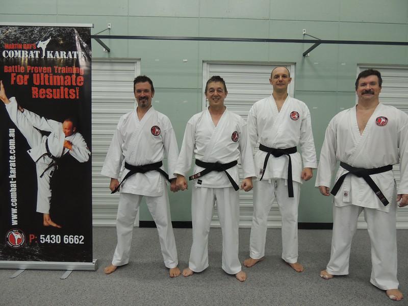 First Combat Karate Noosa Black Belt Grading - All Passed to 1st Dan! WELL DONE Garry, Joe, Nigel & Andy!