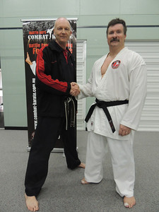 Andy with Shihan Martin Day Combat Karate Noosa