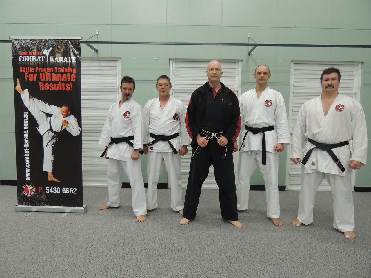 First Combat Karate Noosa Black Belt Grading - All Passed to 1st Dan! WELL DONE Garry, Joe, Nigel & Andy with Shihan Martin Day