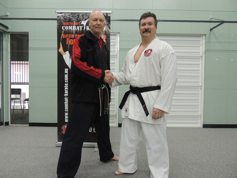 Andy with Shihan Martin Day Combat Karate Noosa