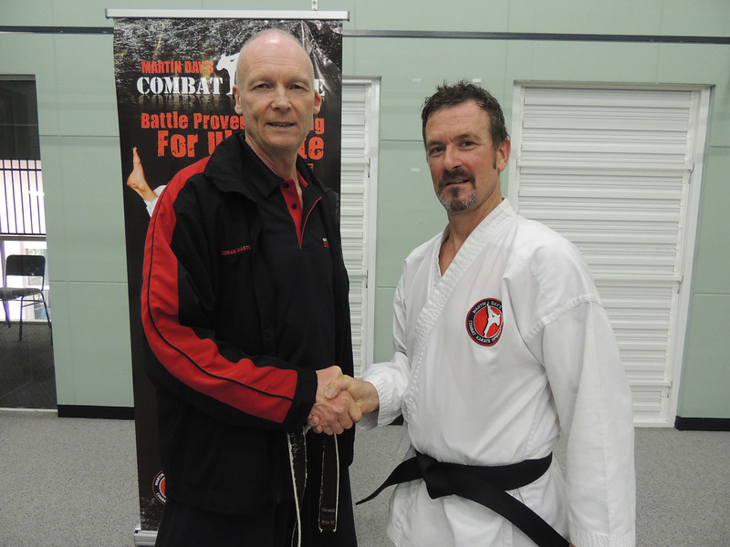 Garry with Shihan Martin Day Combat Karate Noosa