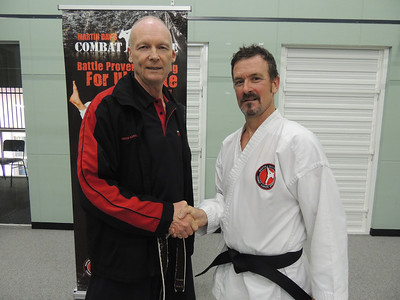 Garry with Shihan Martin Day Combat Karate Noosa