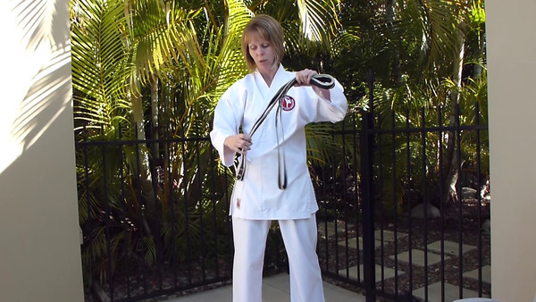 Combat Karate Belt Tying Video With Sensei Patricia