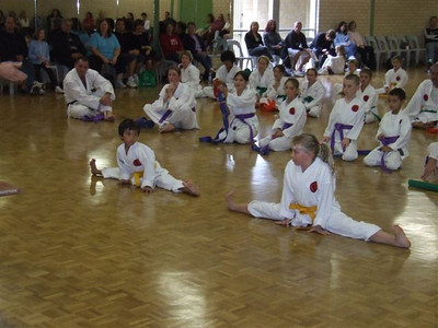 Combat Karate junior childrens Grading 2009 in Perth