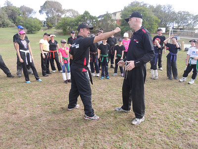 Garry 1st Dan & Shihan Martin Day  Combat Karate Noosa. One Day self defence & combat karate training for all on the Sunshine Coast, Australia