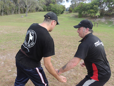 Marco Nadal & Chris Evans Combat Karate Noosa. One Day self defence & combat karate training for all on the Sunshine Coast, Australia. Kyusho pressure points training.