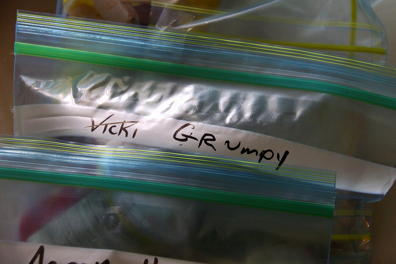the games begin.  Someone changed Vicki's name to Grumpy.