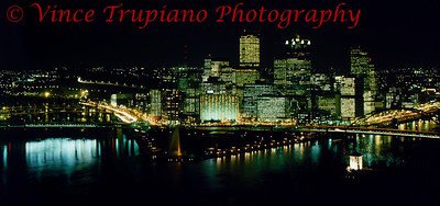 Light up night in Downtown Pittsburgh, Pa - November 1983.