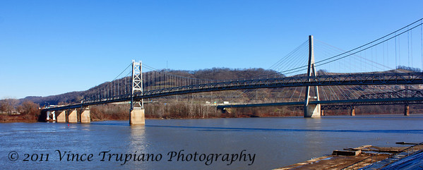 The Fort Steuben Bridge spanning the Ohio River between Weirton, WV and Steubenville, OH.