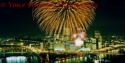 Light up night celebration in Downtown Pittsburgh, Pa - November 1983.