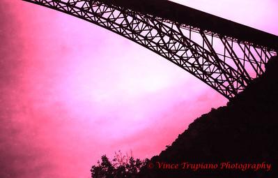 The New River Gorge bridge located near Fayetteville, WV.