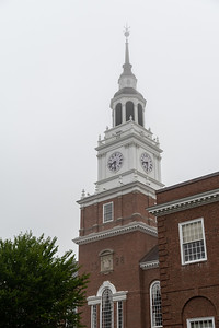 Baker Tower, on a foggy morning –Dartmouth College.