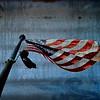 American flag flying somewhere over Washington DC.
