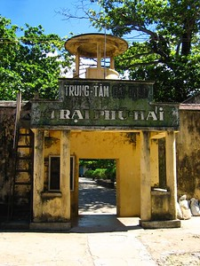 entrance to one of the prisons on con dao island