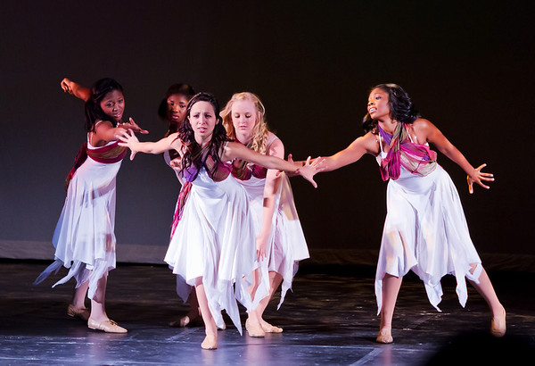 "Dancers in a beautifully choreographed dance to an arrangement of ""Amazing Grace."""