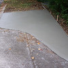 Extra concrete poured at the end of Dot's drive.