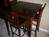 DINING ROOM TABLE - 3 CHAIRS