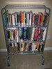 BOOK SHELF - METAL AND GLASS SHELVES