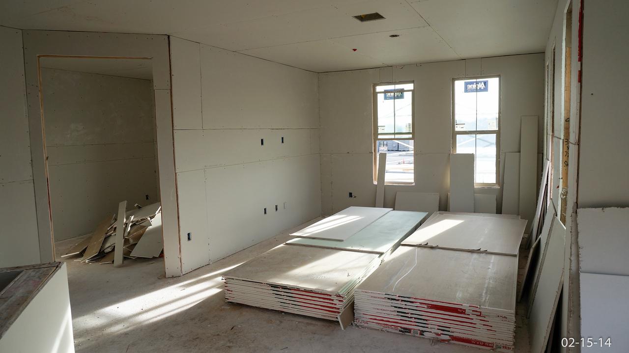 Living room, den entrance