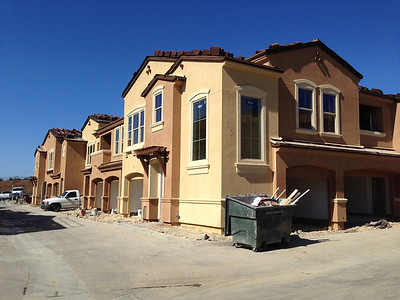 Stucco done, March 14, 2014