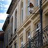 Beautiful arachways, wrought iron balconies, Flowers, beautiful street lamps....Ahhhhhh