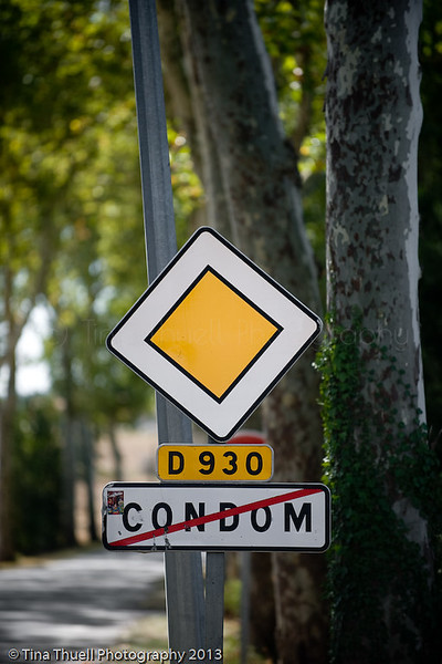 This sign does NOT mean no Condoms, it means you are leaving Condom!! :)