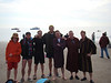 On the beach (Thane, Ryan, Andy, Brian, Jim,  Me (Jim), Dave)