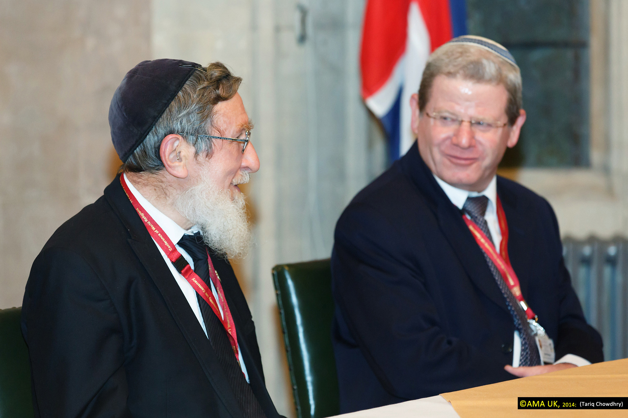 Rabbi Prof Daniel Sperber, representative of the Chief Rabbi of Israel  and Rabbi Oded Weiner, Chief of Staff of the Office of the Rabbi of Israel.