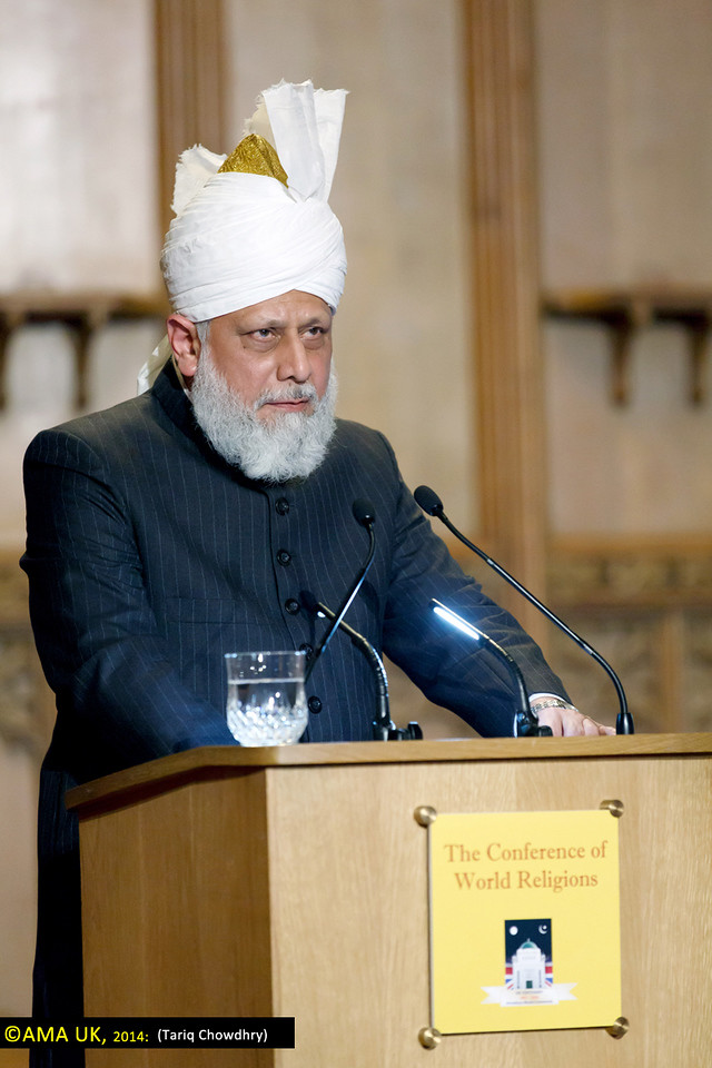 "Hazrat Mirza Masroor Ahmad said:<br /> <br /> ""In order to protect ourselves and to save mankind we need to turn towards God Almighty and we need to attach ourselves to that Living God who did not forsake the Prophet Moses and his people and nor did He forsake the Prophet Jesus and his disciples. Nor have true Muslims been deprived from attaining the blessings of God and seeing their prayers accepted."""