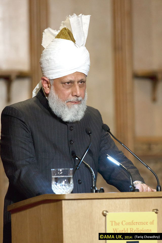 The conference received messages of support from Her Majesty, Queen Elizabeth II, His Holiness the Dalai Lama, Prime Minister David Cameron and several other dignitaries.<br /> <br /> During the event the various faith leaders considered what role religion could play in today's world and whether religion continued to be a force for good. The keynote address delivered by Hazrat Mirza Masroor Ahmad sought to answer these questions in light of Islam's true teachings.