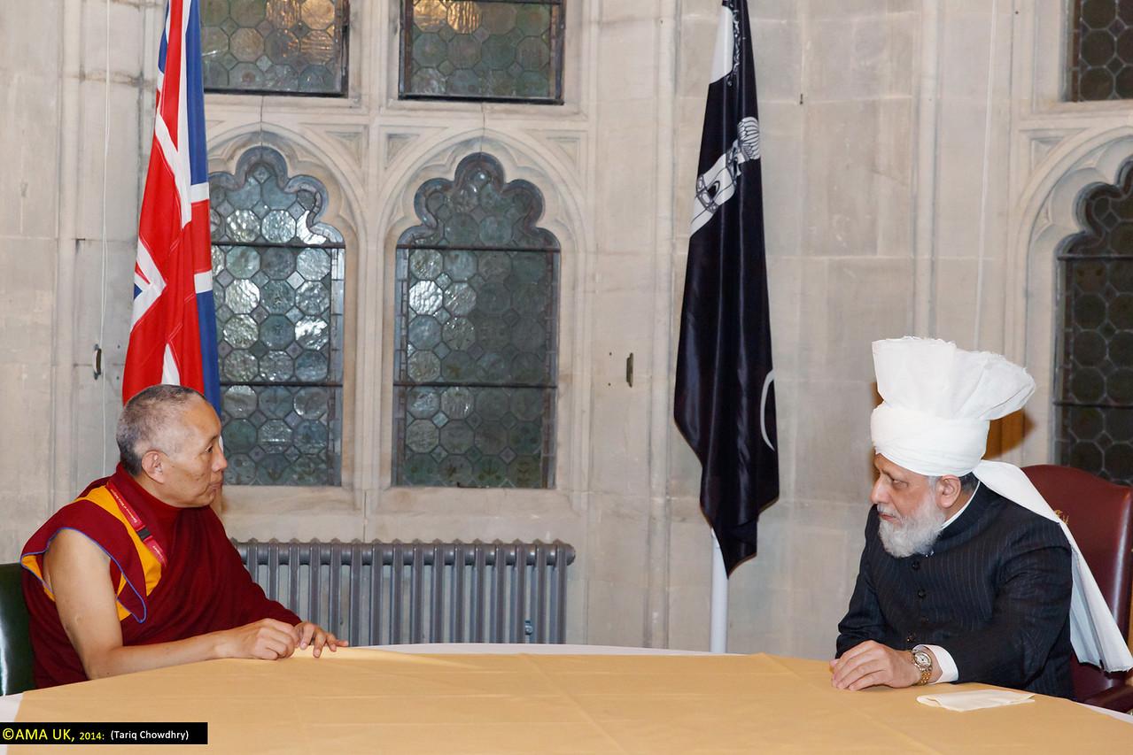 Geshe Tashi Tsering – representing His Holiness, The Dalai Lama, meeting with His Holiness