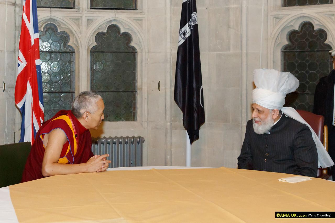 Geshe Tashi Tsering – representing His Holiness, The Dalai Lama meets with His Holiness.