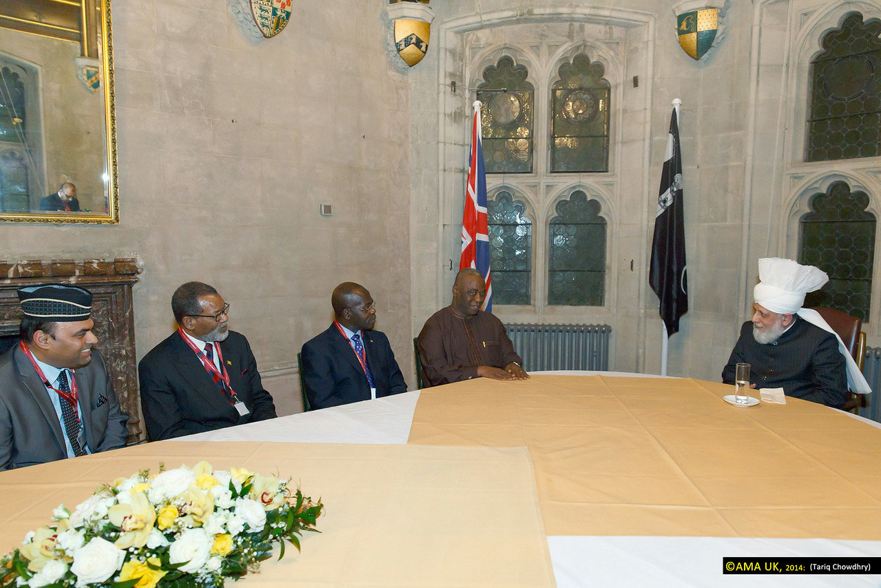 HE Prof. Kwaku Danso-Boafo, Ghanian High Commissioner to UK and Al Hajj Baba Kamara – (special representative of the President of Ghana, and the High Commissioner of Grenada) meeting with His Holiness.