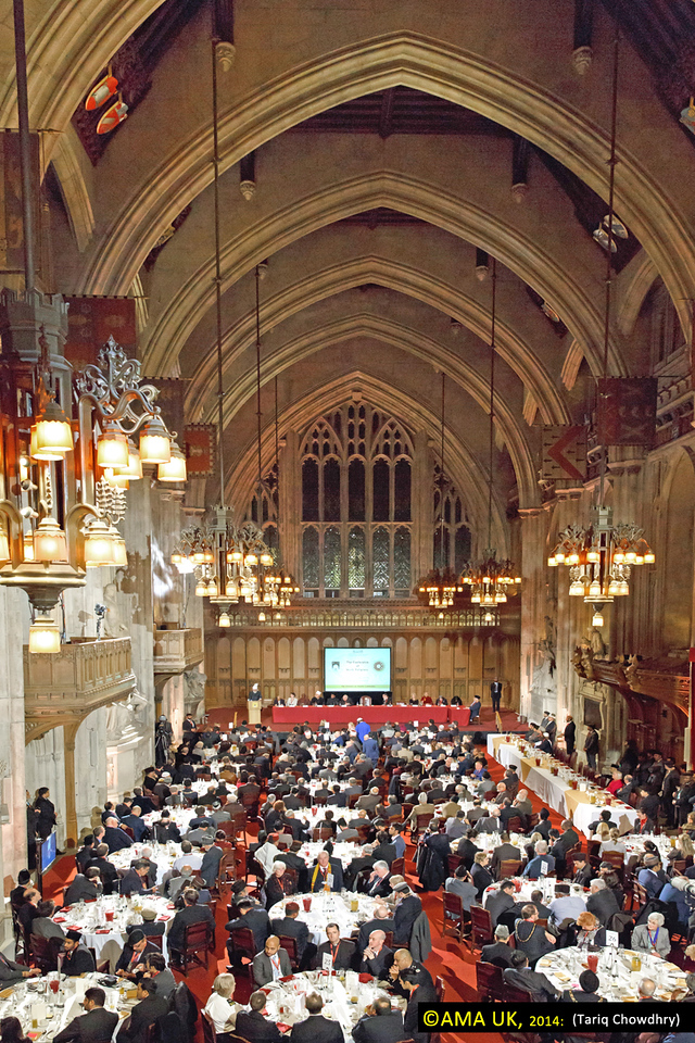 The conference was organised by the Ahmadiyya Muslim Community in the UK, as part of its centenary celebrations, at the famous Guildhall in the City of London. The theme of the much anticipated event was 'God in the 21st Century'.