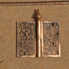 Refurbished brass hinge from one of the Seney entrance doors.
