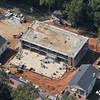 An aerial view of the library work site, taken on October 10.