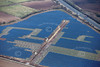 Tuxford solar farm construction site from the air.