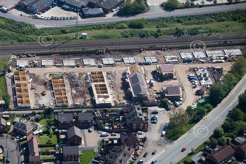 Aerial photo of Sleaford Road, Newark.