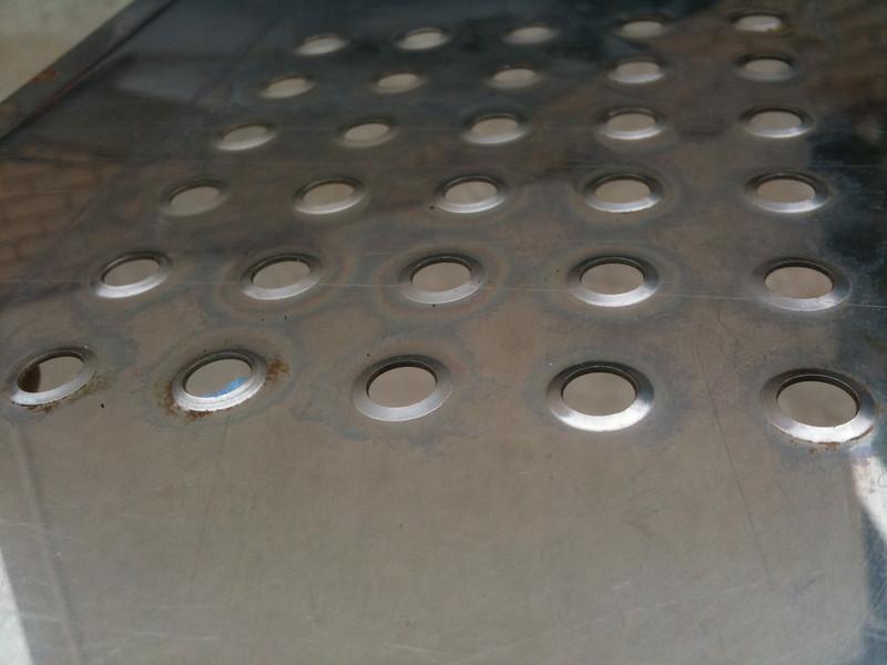 Underneath drip tray