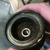Here's inside of the piston.  Eeewwwwww.