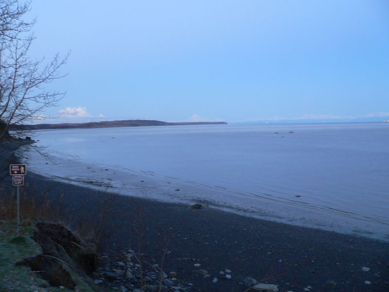 Cook Inlet from Discovery Campground at sunrise