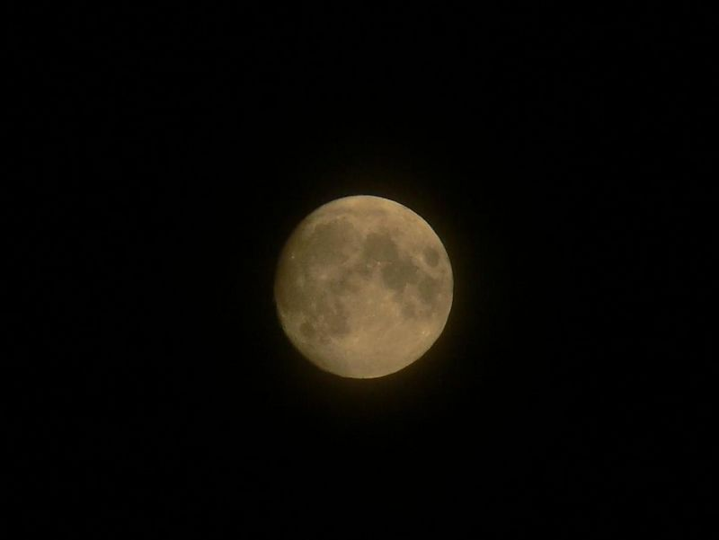 Esxperimenting with Manual settings on camera to take a picture of the moon.