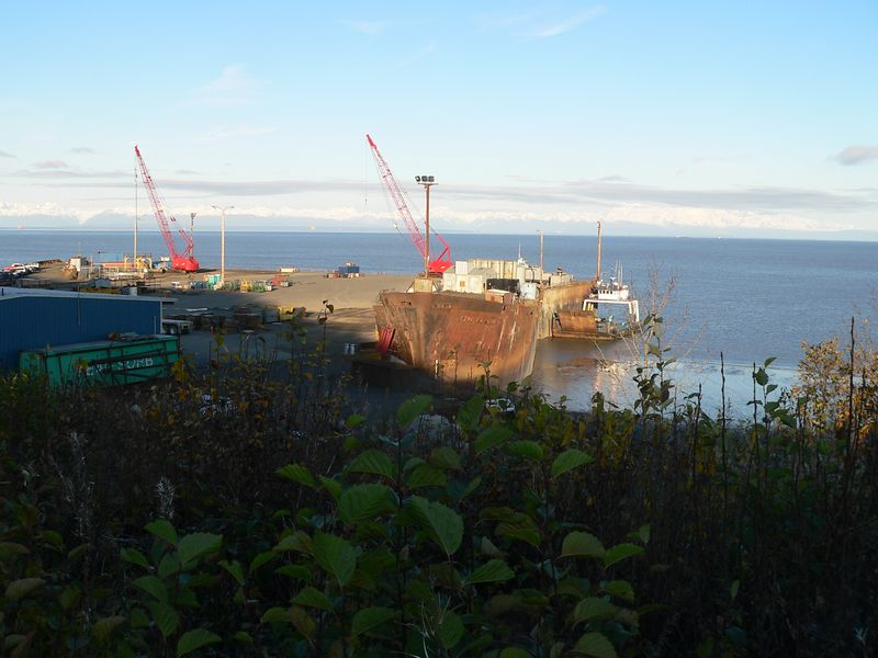 Arness Dock built on a base of WWII Liberty Ships