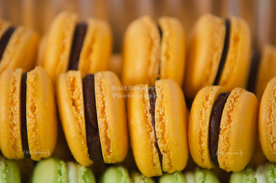 Stacked rows of French Macarons