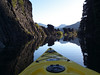 It's amazing to paddle around lava pillars in the morning light