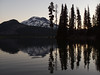 South Sister from Sparks Lake at sunrise
