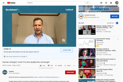 German virologist: Covid-19 is less deadly than we thought https://youtu.be/vrL9QKGQrWk  One can catch COVID again if he/she had it already, but not as severe (more asymnatic symptoms tcells )  Super spreading events (e.g. parties)   German virologist: Covid-19 is less deadly than we thought https://youtu.be/vrL9QKGQrWk  One can catch COVID again if he/she had it already, but not as severe (more asymnatic symptoms tcells )  Super spreading events (e.g. parties)  There is NO vaccine for any coronaviruses