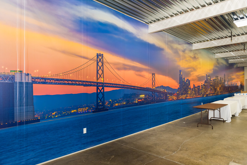 88' x 12' Gigapixel San Francisco cityscape image!   Approximately 4Gb at 110,000 x 14,800 pixels