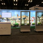 San Francisco Fine Art Mural Trade Show Artwork 7 Painted Ladies 20 feet by 8 feet
