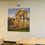 San Francisco Murals for Companies, Corporations, Businesses that want Fine Art images to liven up large spaces!  Company themes can be incorporated into artwork with licensing.  This image has a corporate DNA theme for the company that installed this San Francisco Palace of Fine Arts Image.